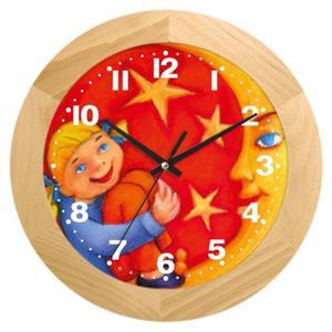 Zegar drewniany dziewczynka z księżycem - 2822993713