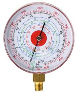 Manometr wysokiego ciśnienia na czynniki R134, R404A, R407C, R22 fi80 - 2823543794