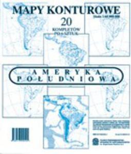 Ameryka Południowa 1:60 000 000. Mapy konturowe - 2824301885