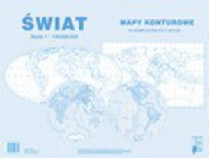 Świat 1:100 000 000 - Mapy konturowe - 2824301879
