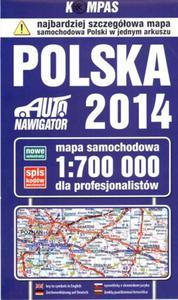 Mapa samochodowa. Polska 1:700 000 dla profesjonalistów - 2824237462