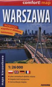 Plan Miasta. Warszawa. Laminowana midi 1:26 000 - 2843879158