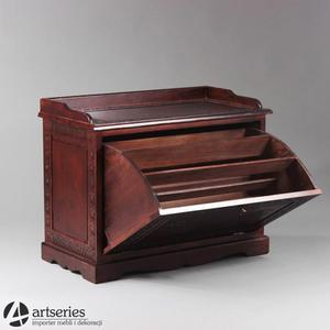 Stylowa rzeźbiona komoda 53767 drewniana szafka na buty
