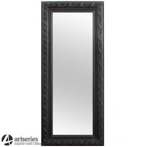 Stylowe lustro 78346 w kolorze czarnym w rzeźbionej ramie - 2829133574