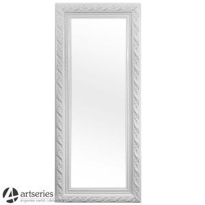 Białe lustro prostokątne w rzeźbionej ramie antycznej 78347a - 2829133582
