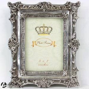 Duża srebrna stojąca ramka 71130 piękne zdobienia na około - 2829133623