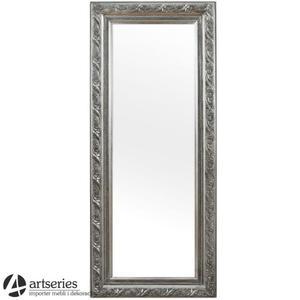 Srebrne, stylizowane lustro srebrne w rzeźbionej ramie 78347 - 2829133676