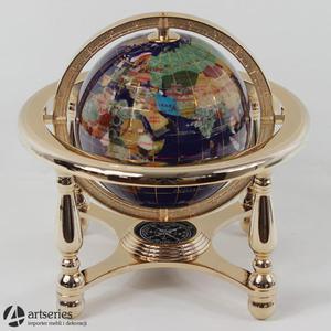 Globus dekoracyjny z masy perłowej w kolorze złotym 48114 - 2829133934
