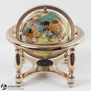 Kremowy globus osadzony w złotej ramie 48115 masa perłowa - 2829133935