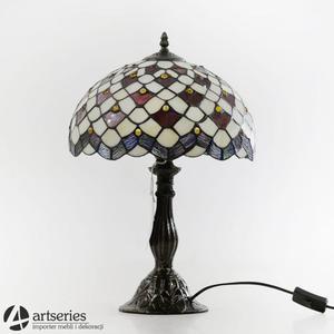 Piękna lampa witrażowa , stojąca lampka kolorowa 83947 - 2829133986