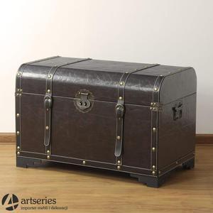 Duży kufer stylizowany z pasami - skrzynia retro 85687d - 2829134013