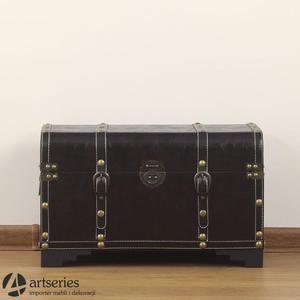 Mały kufer w stylu pirackim, antycznym 85687m - 2829134015