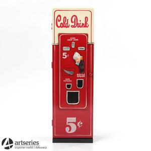 Młodzieżowy stojak na płyty - wzór coca cola - 65008 - 2829132534
