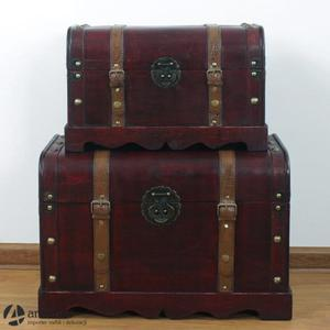 Komplet dwóch stylowych kufrów skrzyń kuferków 47279 - 2829134035