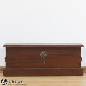 Kufer kolonialny - najmniejszy z kompletu - lity maho - 2829134055