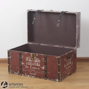 Skrzynia ze stylowym nadrukiem, kufer 89901c - 2829134078