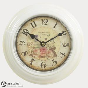 Zegar ścienny okrągły 91410 PARIS piękny zegarek - 2829134153