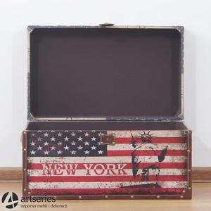 Skrzynia USA retro 89898d - flaga narodowa Amerki - 2829134156