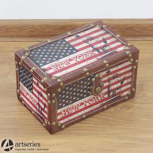 Najmniejszy z kompletu 89898a - kuferek USA z motywem Statuy Wolności - 2829134159