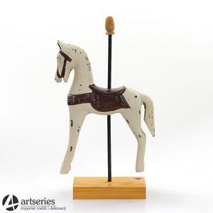 Drewniana, dekoracyjna figurka konia 77782 koń - 2829134338