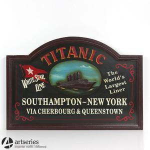 Drewniana tabliczka, obraz z obrazkiem Titanica 69353 - 2829134355
