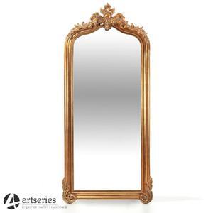 Nowe lecz stylizowane, duże lustro w złotej ramie i dużych gabarytach 89693 - 2829134509