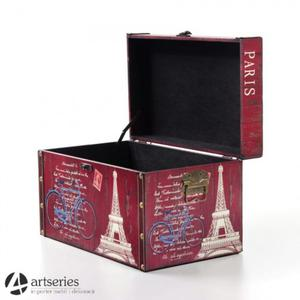 Skrzynia o szerokości 50 cm w stylu retro 90280s - kufer Paris do domu