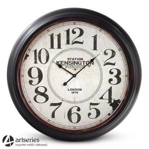 Okrągły zegar stylizowany, ścienny - średnica 93 cm - London - 2829134590