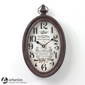 Owalny zegar | zegarek stylizowany | Clouterie | 97165 - 2829134608