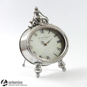 Stylowy zegar stojący, srebrny 100423 - 2829134770