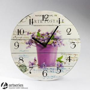 Rustykalny zegar z motywem kwiatowym 102163 - 2834265454
