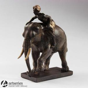 Figurka słonia z kornakiem na grzbiecie 69371 - 2834265472