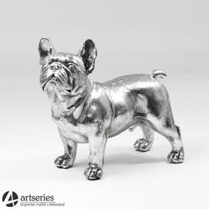 Srebrny pies - ozdobna figurka na komodę 100546 - 2834265495
