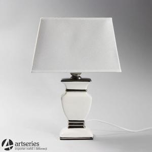 Biała, nocna lampka stołowa 999019 - 2836520075