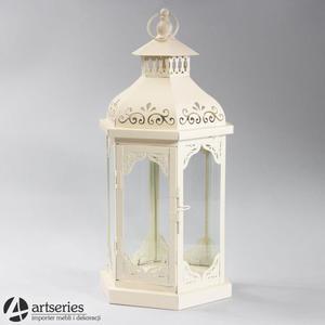 Wysoki, kremowy lampion ozdobny 88836 - 2836520080