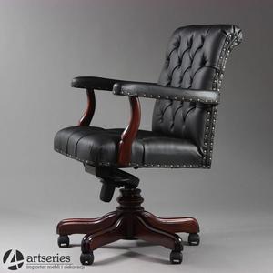 Elegancki fotel Chesterfield 163018 do biura dla prezesa   Premium Mark - 2835887279