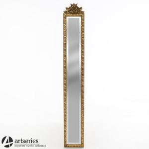 Lustro 63743 - do powieszenia z pięknymi rzeźbieniami, złote - 2848939237
