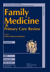 FAMILY MEDICINE & PRIMARY CARE REVIEW - ZESZYT 1/2011 - 2834459770