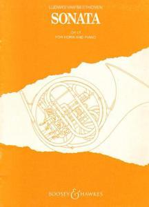 Ludwig van Beethoven SONATA OP. 17 FOR HORN AND PIANO [antykwariat] - 2834459931