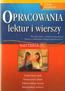 Dariusz Pietrzyk, Robert Rychlicki, Anna Marzec OPRACOWANIA LEKTUR I WIERSZY [antykwariat] - 2834460052