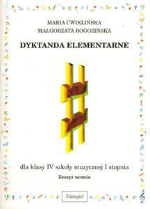 DYKTANDA ELEMENTARNE DLA KLASY IV SZKO - 2834460224