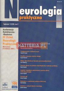 NEUROLOGIA PRAKTYCZNA. SUPLEMENT 1/3/2005. TOM 5 [antykwariat] - 2834460274