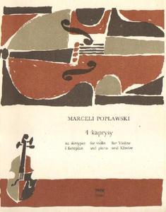 Marceli Popławski 4 KAPRYSY NA SKRZYPCE I FORTEPIAN [antykwariat] - 2834460290