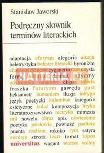Stanisław Jaworski PODRĘCZNY SŁOWNIK TERMINÓW LITERACKICH [antykwariat] - 2834460320