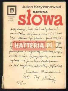Julian Krzyżanowski SZTUKA SŁOWA [antykwariat] - 2834460352