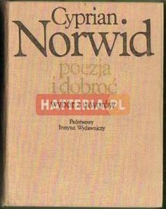Cyprian Norwid POEZJA I DOBROĆ. WYBÓR Z UTWORÓW [antykwariat] - 2834460429