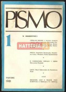 PISMO NR 1 ROK 1. MARZEC 1981 [antykwariat] - 2834460671