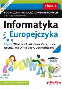 INFORMATYKA EUROPEJCZYKA. PODRĘCZNIK DLA KL. 4 SZKOŁY PODSTAWOWEJ + PŁYTA CD-ROM - 2834460885