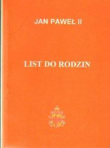 Jan Paweł II LIST DO RODZIN [antykwariat] - 2834461321