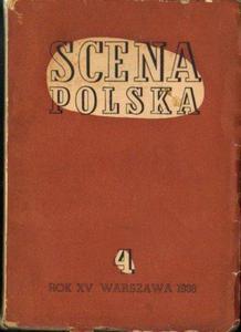 SCENA POLSKA. ZESZYT 4. ROK XV (1938) [antykwariat] - 2834462553